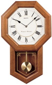 Seiko Deluxe Howard Chiming Oak Schoolhouse Wall Clock - GSK4476