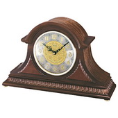 Seiko Deluxe Colburn Chiming Mantel Clock with Tambour Oak Case and Metal Dial - GSK4482