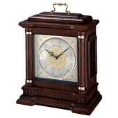 Seiko Deluxe Bosley Chiming Carriage Mantel Clock Oak Case & Metal Dial - GSK4484
