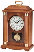 Seiko Deluxe Dynasty Chiming Pendulum Medium Oak Mantel Clock - GSK4514