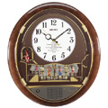 Aqua Pear Daniel Clown Melodies in Motion Wall Clock Quartz Musical Band Clock - GSK4584