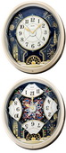 Aqua Pear Deluxe Anthony Melodies in Motion Split Dial Wall Clock Quartz by Seiko - GSK4596
