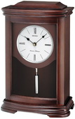 Aqua Pear Deluxe Hawthorne Chiming Mantel clock with Pendulum by Seiko - GSK4672