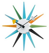 13.5 in Metal Boutique Sunburst Clock - SKH3170