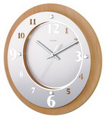 11.5in Wooden Round Metal Clock - SKH3281