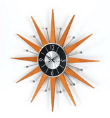 19.38in Starburst Crown Clock - SKH3125