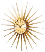 24in Metal Sunburst Clock - SKH3059