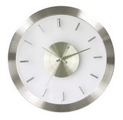 12.25in Steel Wall Clock with Clear face - SKH3221