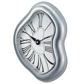 13.75in Melted Metal Dali Clock - SKH3167