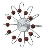 13in Wooden Curved Spoke Wall Clock - SKH3182