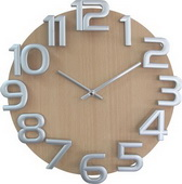 12.5in Wooden Wall Clock - SKH3215