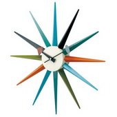 18.5in Classic Wooden Sunburst Clock - SKH3131
