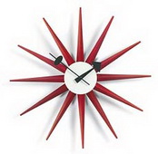 18.5in Classic Wooden Starburst Clock - SKH3128