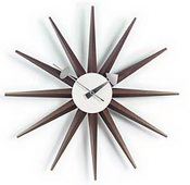 18.5in Sunburst Clock Walnut - SKH3134