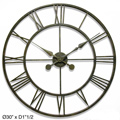 Bolton 30in Wall Clock Wrought Iron - TFT5683