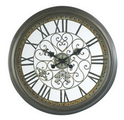 24.5in Aged Verdigris Finish Wall Clock - TKC3255