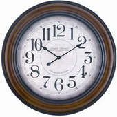 32in Aged Bronze Finish Wall Clock - TKC3195