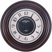 32in Mahogany Finish Wall Clock - TKC3198
