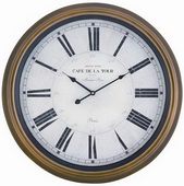 24.5in Toffee Finish Wall Clock - TKC3297