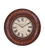 41in Distressed Auburn Finish Wall Clock - TKC3120