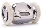 Clocky The Running Away Alarm Clock in Chrome Color - UBC6312