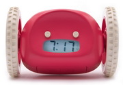 Clocky The Running Away Alarm Clock in Raspberry Color by Nanda Home - UBC6316