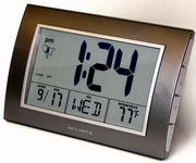 Sutton Digital Quartz Table Alarm Clock in Black Finish - UCN5614
