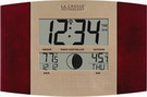 Atomic Digital Wall Clock with Moon & IN/OUT Temp - PLR6150