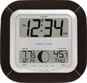 Atomic Digital Wall & Desk Alarm Clock with Moon Phase - PLR6140