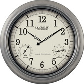 PLR Rothwell 18in Atomic Analog Indoor Outdoor Wall Clock - PLR6114