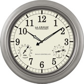 Aqua Pear Risborough 18in Atomic Analog Indoor/Outdoor Wall Clock by LCT - PLR6146