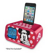 Minnie Mouse Alarm Clock/iPod Dock - WTD1436