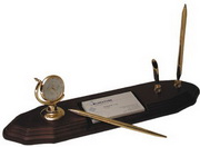BLSN Globe Clock with Double Pen Stand - YBS5383