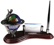 BLSN Globe Pen Stand with Card Holder - YBS5335
