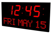 34in Chaumont 6.25in Digit Super Large LED Calendar Wall Clock 16 Alarms Remote Control by Aqua Pear