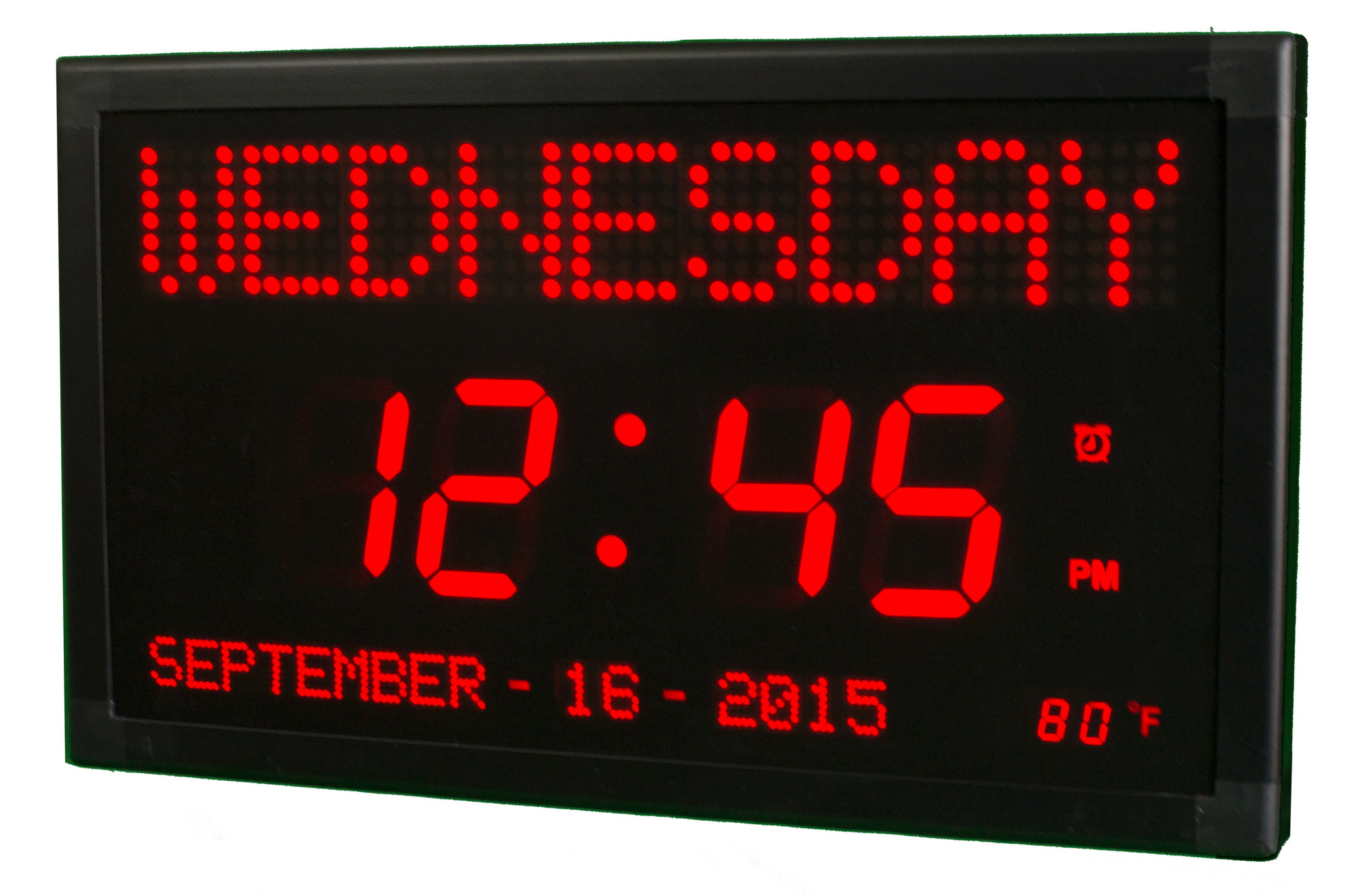 Clockway 17in Belfort 3in Digit Large Led Calendar Wall