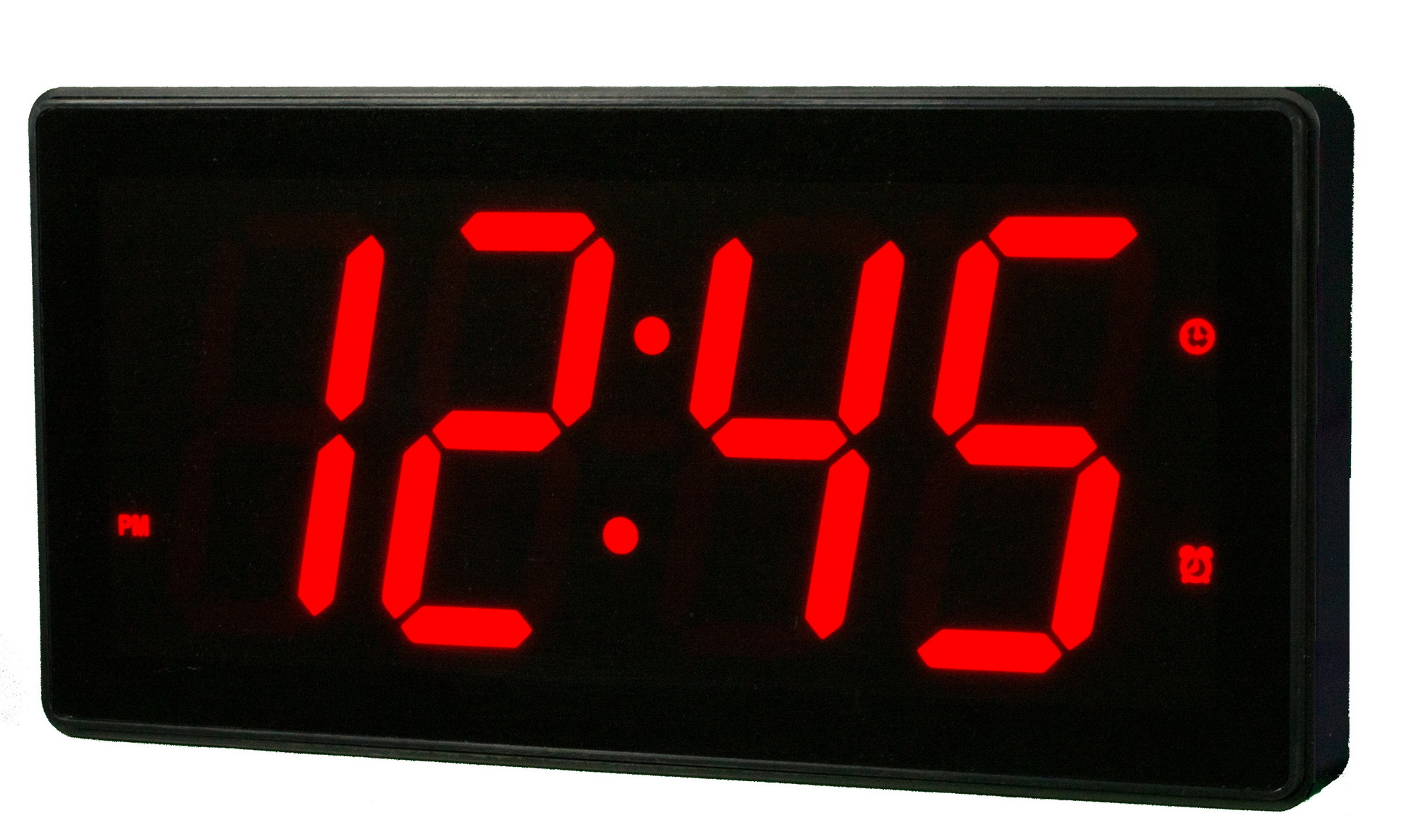 Clockway 12 5in Abbeville 4in Digit Large Led Wall Desk Clock 16 Alarms Remote Control By Aqua Pear