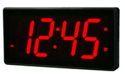 12.5in Abbeville 4in Digit Large LED Wall/Desk Clock 16 Alarms & Remote Control by Aqua Pear