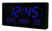 12.5in Chambery 2.5in Digit Large LED Wall/Desk Clock 16 Alarms & Remote - AQP1200