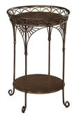 Hekman Round Iron Chairside Table - CHK3199