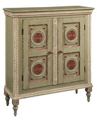 Hekman Green Red Ivory Bookcase - CHK3445