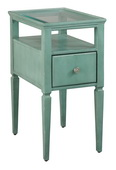 Hekman Seafoam Green Chairside Table - CHK3658