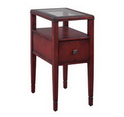 Hekman Weathered Red Chairside Table - CHK3661