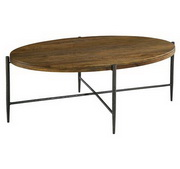Hekman Metal & Wood Oval Coffee Table - CHK3688