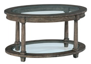 Hekman Oval Coffee Table glass Top