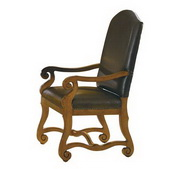 Hekman 35 Leather Uph Arm Chair - CHK2130