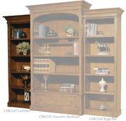 Hekman Urban Executive Left Pier Bookcase - CHK2187