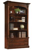 Hekman Weathered Cherry Executive Bookcase - CHK2373