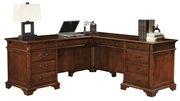 Hekman Weathered Cherry Executive L-Desk - CHK2382