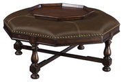 Hekman Octagon Ottoman Cocktail & Coffee Table - CHK3778